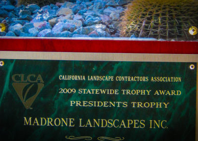 Madrone Landscapes Wins CLCA Statewide Trophy Award!