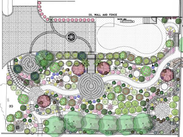 On the Boards: Mediterranean Labyrinth Garden